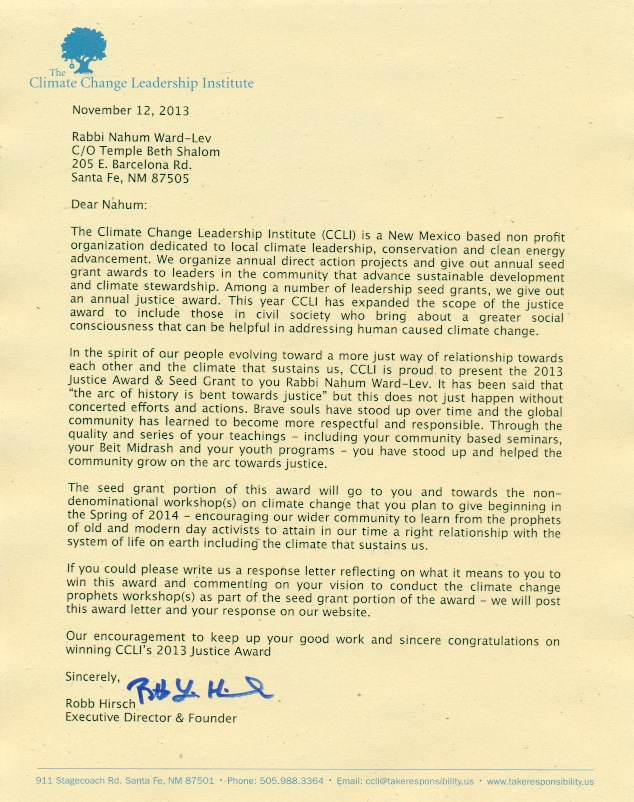 Climate change leadership institute response letter altavistaventures Image collections