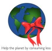 Help the planet by consuming less